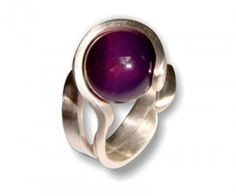 Sterling Silver Ring with sphere amethist