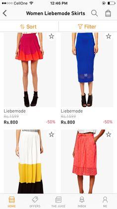 Skirts from libemode jabong