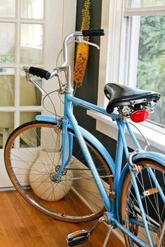 Your Bike, At Home | Apartment Therapy (GUYS. I need a bike next year...)