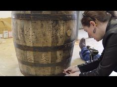 Make a Whiskey Barrel Water Feature - YouTube