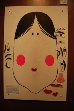 "Fukuwarai , or ""lucky laugh,"" is a fun Japanese game usually played around the Japanese new year, where players close their eyes and blindly pin eyebrows, lips, a nose, and ears on blank face, and then see the often hilarious results. Come check out The Wing's New Year exhibit, where you can play your own game of fukuwarai with your friends.  #fukuwarai #japanesenewyear"