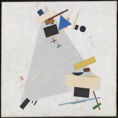 Russian geometric abstract painter Kazimir Malevich was born in He was very religious and desired to represent the world beyond natural forms. 'Dynamic Suprematism (Supremus)' by Kazimir Malevich Tate Kazimir Malevich, Art Terms, Tate Gallery, Royal Academy Of Arts, Action Painting, Russian Art, Russian Icons, A4 Poster, Canvas Art
