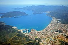 Marmaris Cruise Port in Turkey, the port of call with a view for cruise ships in the Mediterranean