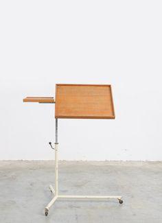 Industrial Adjustable Side Table, sold by vintage design point.