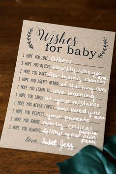 Baby Wish Cards, Wishes for Baby Cards, Baby Advice Printable Instant Down … – Juegos Adolescentes Fun Baby Shower Games, Baby Shower Activities, Baby Games, Baby Shower Printables, Baby Shower Themes, Baby Shower Advice, Cute Baby Shower Ideas, Baby Shower Virtual, Baby Showers Juegos