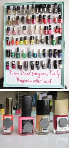 DIY Magnetic nail polish board