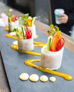 Nosh and Nibble - Bistro Hatzu - Restaurant Review - Vancouver #foodie #foodporn Vancouver, Food Porn, Restaurant, Sushi, Panna Cotta, Japanese, Ethnic Recipes, Dulce De Leche, Japanese Language