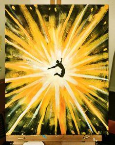 Joy - acrylic painting