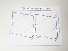 diy mini envelopes free printable pattern tutorial projects to