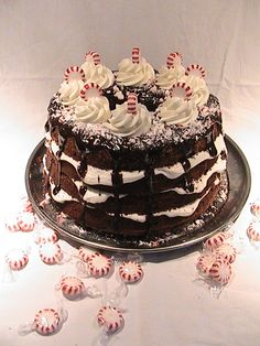 Soap Mom's Kitchen: Holiday Peppermint Chocolate Chiffon Cake