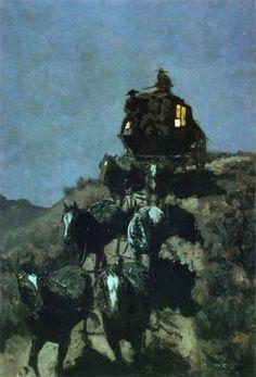 Image detail for -... Coach of the Plains :: Frederic Remington :: Allpaintings Art Portal