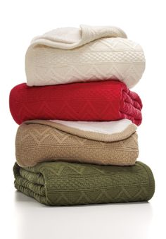Martha Stewart Collection Reversible Sherpa Throw Blanket