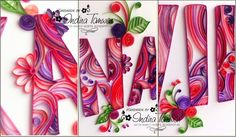 Arty Sorts: Quilled Name Plate - NAVIKA