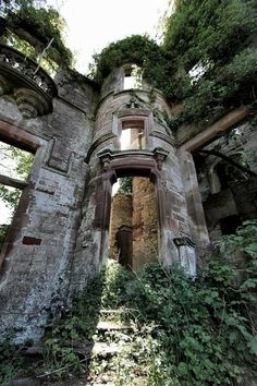 Milkbank House ruins near Lockerbie, Scotland