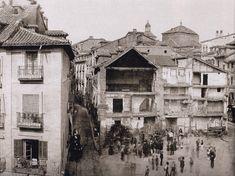 Imágenes del viejo MadridPuerta del Sol  durante el inicio de los derribos previos a la reforma (detalle), 1857 Ch.Clifford. Museo Municipal de Madrid.