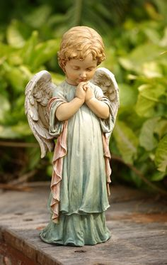 Pastel Praying Angel Cherub Garden Statue - List of the most beautiful garden Angel Garden Statues, Garden Angels, Garden Statues For Sale, Most Beautiful Gardens, Memorial Gifts, Angel Art, Angel Decor, Pray, Outdoor Decor