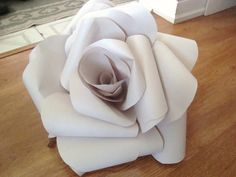 Giant Paper 3D Rose - for wedding backdrop #Paperflowers #Giantpaperrose