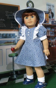 *AG BLUE 1 by Sugarloaf Doll Clothes, via Flickr  on flicker- so no pattern or link to a purchase place.