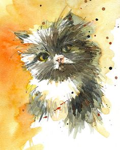 Custom Pet Portrait  Original watercolor portrait of by SketchAway, $150.00