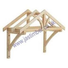 Timber Door Canopy - Richard Burbidge Timber Porch Door Canopies - Timber Porch Canopy - Porch Canopies in Softwood - Hardwood - Oak from JAS Timber Door Canopy Porch, Porch Doors, Back Doors, Porch Awning, House With Porch, House Front, Door Overhang, Apex Roof, Woodworking