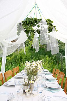 Love the idea of borrowing from Scandinavia's midsummer celebrations for our summer Christmas...beautiful!