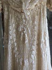Victorian Irish Crochet Wedding Dress - Rare - Late 1800'S. Original Underslip