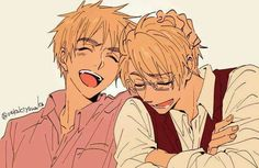 Aaahhh UsUk, they're so cute ;;;; I'm so happy when they're happy ;;;;