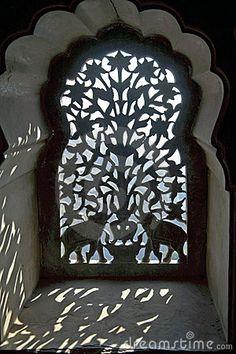 not quite a doorway but an ornate Indian window screen