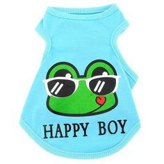 SMALLLEE_LUCKY_STORE  Clothes for Girls Boys Happy Frog Vest Dog T-shirt Classic Tank Tops, Blue, XX-Large >>> To view further for this item, visit the image link. (This is an affiliate link) #DogLovers