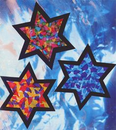 Stained Tissue Stars craft for kids