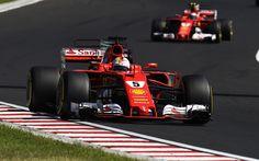 Scarica sfondi Formula 1, Sebastian Vettel, pilota di auto da corsa, Ferrari SF70H, la Scuderia Ferrari