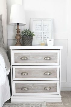 These Ikea nightstand hacks are some of the most creative ones you will see! Get inspiration for your own Ikea Rast nightstand hacks. Refurbished Furniture, Repurposed Furniture, Shabby Chic Furniture, Bedroom Furniture Design, Diy Furniture, Furniture Projects, Furniture Removal, Diy Projects, Ikea Furniture Makeover