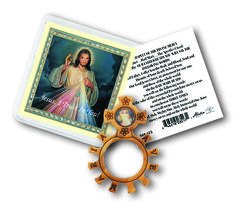 Wooden Divine Mercy Rosary Ring #DivineMercy #Rosary #Catholifgifts