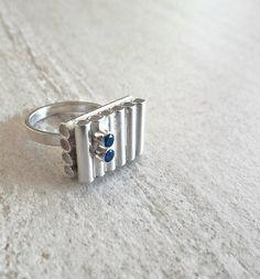RING Sterling Silver zirconia Contemporary by AnaBragancaJewellery