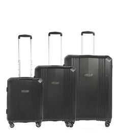 epic AirWAVE 3-Set Trolley 75/65/55cm 4W Black