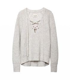 Nile Lotan Lace-Up Sweater