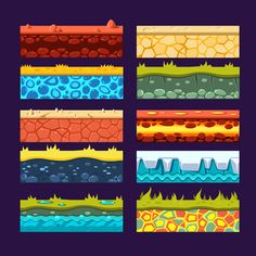Textures for Games Platform by TopVectors on @creativemarket