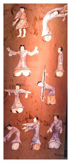 Silk painting, Tai Chi exercise chart Unearthed in Mawangdui tombs Western Han Dynasty (206 B.C. - 8 A.C.)