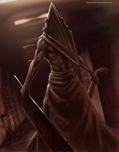 Pyramid Head might have been A look Branford was aiming for on Halloween...