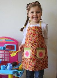 Free Sewing Patterns: Reversible Children's Apron