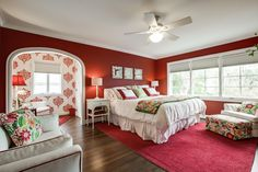 This is one of four #bedrooms at 5334 Waneta Drive in the Greenway Parks area of #Dallas. At the time of this pinning, the #luxury home was being marketed by Stephen Collins of Dave Perry-Miller Real Estate. @shoot2sell