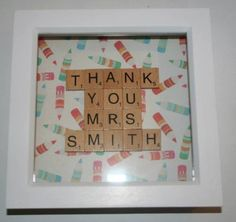 Thank You Teacher Personalised Scrabble Frame