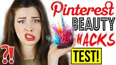 GENIALE PINTEREST BEAUTY HACKS im LIVE TEST | FAKE EYELINER AUFKLEBEN?! ...