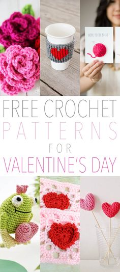 Free Crochet Patterns for Valentine's Day Fun or when you just want to share your heart! - The Cottage Market