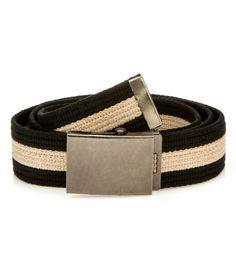 Pánsky čierno-béžový opasok Belt, Accessories, Fashion, Belts, Moda, Fashion Styles, Fashion Illustrations, Jewelry Accessories