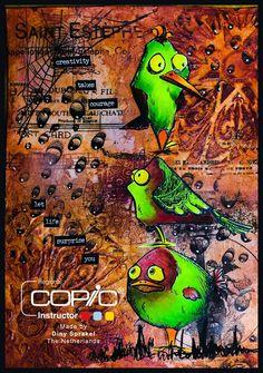 Crazy Birds op herhaling gemaakt door Diny