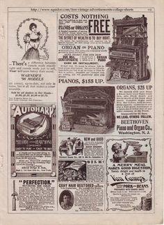 free Victorian ad printables