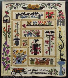 A gardener's quilt
