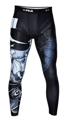 """Fuji Sakana Jiu Jitsu Spats For NOGI Grappling & MMA Sakana in Japanese is translated as food eaten accompanied by alcohol. This in other words is """"Daily Bread"""". You have to get your daily training in Dope Swag Outfits, Sport Outfits, Workout Attire, Workout Wear, Martial Arts Gear, Fight Wear, Mma Workout, Mma Gear, Mens Tights"""