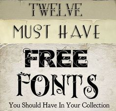Shadowhouse Creations: 12 Free Must Have Fonts--Think I can use a few of these Photoshop, Silhouette Cameo, Silhouette Fonts, Silhouette Projects, Cool Fonts, Fun Fonts, Awesome Fonts, Pretty Fonts, Alphabet
